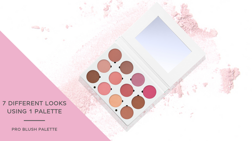 7 Different Looks with the Pro Blush Palette