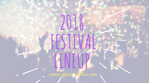 Your 2018 Festival Lineup