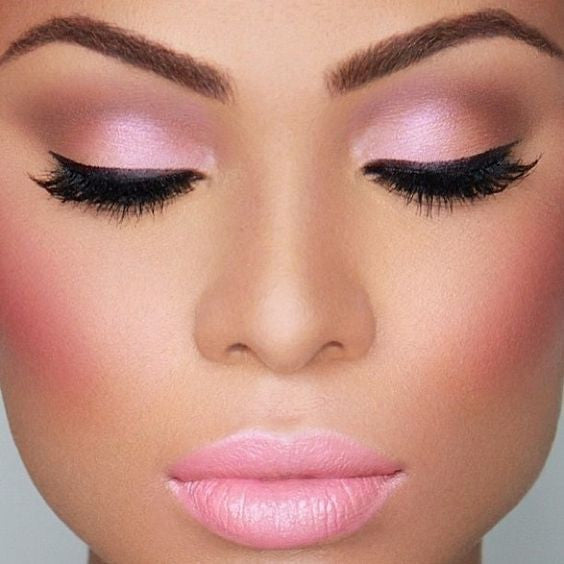 Monochromatic Makeup: Blushing Beauty
