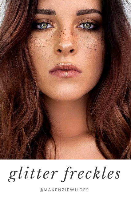 a617a23033e As if faux freckles couldn't get any cuter, glitter freckles are now a  thing. Take a taupe brown eyeliner pencil (try our Universal Eyebrow  Pencil) and ...
