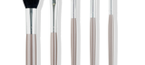 Default Title - mobile Assortment of 5 makeup brushes for the entire face with grey handles