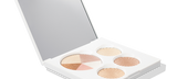 Default Title - mobile Opened Glow Up Palette in white packaging with large mirror