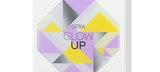 Default Title - mobile Closed Glow Up Palette in white packaging and geometric design