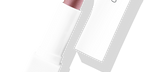 Default Title - mobile Lipstick Plum in white packaging with cap to the right