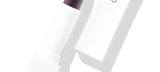 Default Title - mobile Lipstick Purple Haze in white packaging with cap to the right