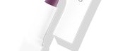 Default Title - mobile Lipstick Royal Orchid in white packaging with cap to the right