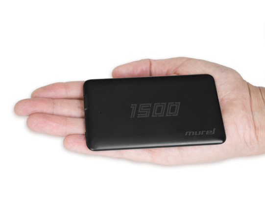 Slim Power Bank: 1500 mAh
