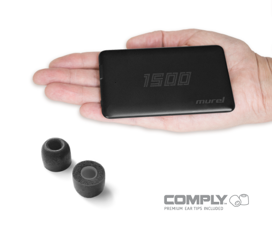 Slim Power Bank: 1500 mAh + COMPLY™ EAR TIPS