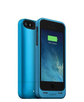 iPhone 5/5S Mophie Juice Pack Helium Battery Case Blue