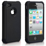 iPhone 4/4S Rugged Pebbled Leather Black