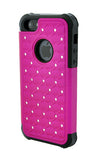 iPhone 4/4S Diamond Ballistic Case Hot Pink