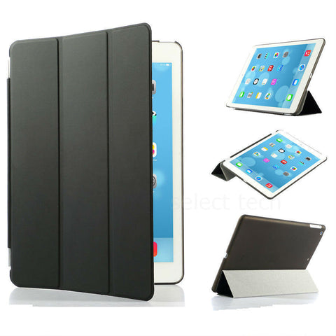 iPad Magnetic Slim Leather Case Black