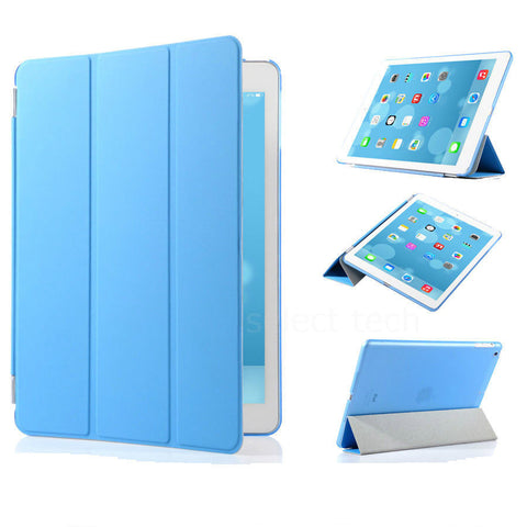 iPad Magnetic Slim Leather Case Blue