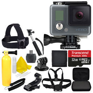 GoPro HERO Camera Camcorder Waterproof CHDHA-301 w/ Head Strap + 32GB Full Kit