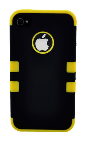 iPhone 5C Defender Case Yellow Stripe
