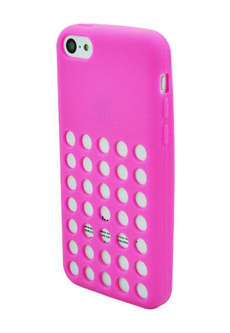 iPhone 5C Hole Punch Pink