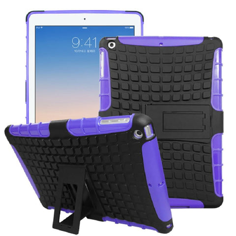 iPad Shock-Proof Heavy Duty Hard Case Purple