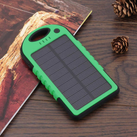 Smartphone Solar Charger Black/Green