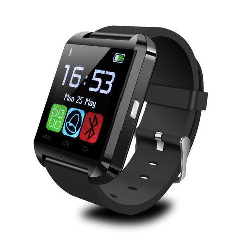 Bluetooth 4.0 Smart Watch Phone Mate For Android IOS Samsung Iphone Sony Black