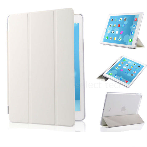 iPad Magnetic Slim Leather Case White