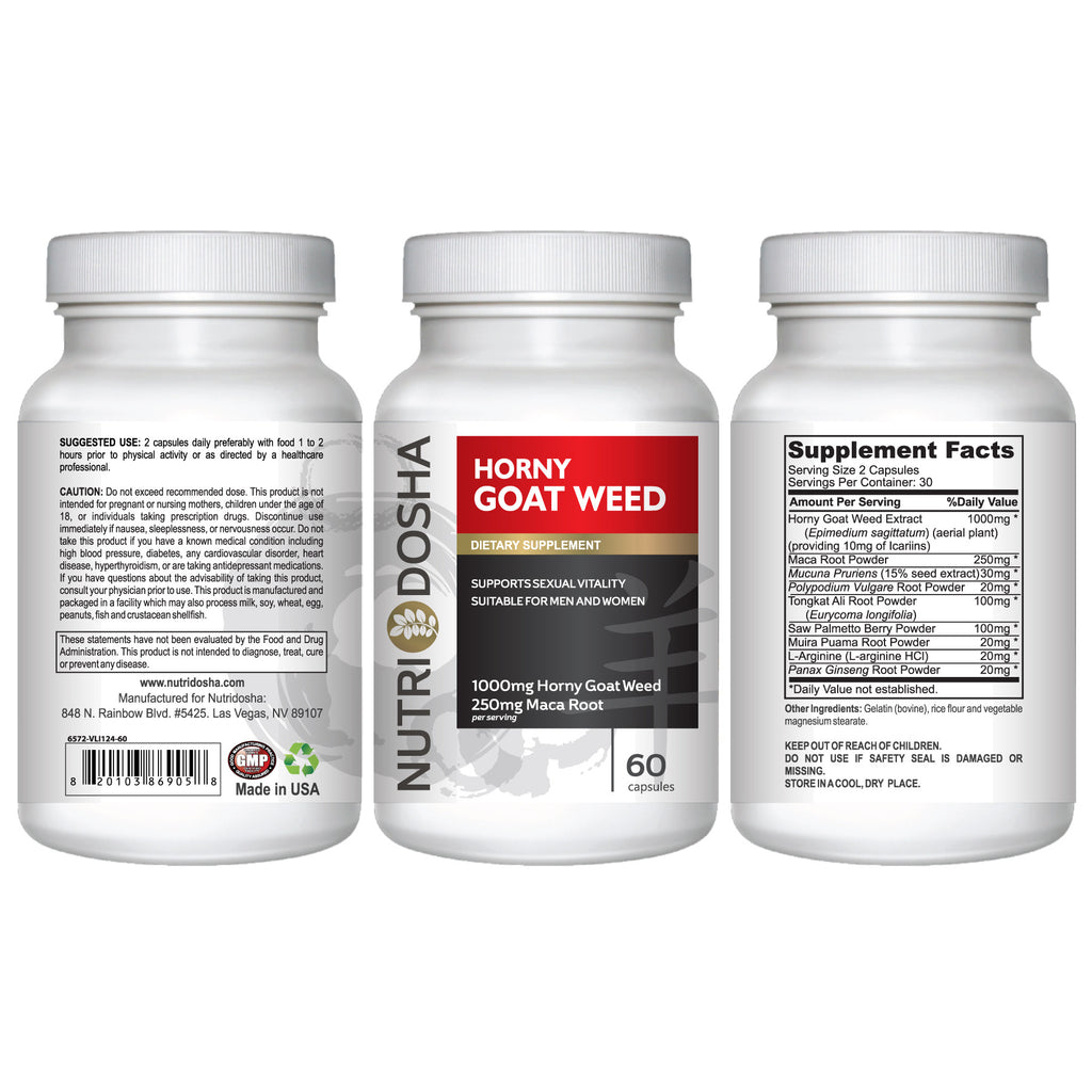 Horny Goat Weed with Maca Root Libido and Focus Boosting Formula