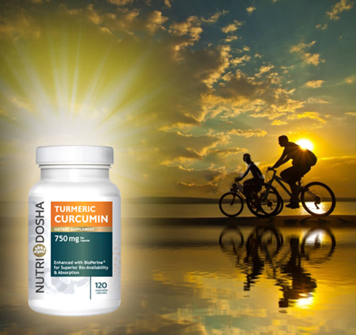 Alleviate Joint and arthritis pain with powerful anti-inflammatory Turmeric Curcumin with Bioperine by Nutridosha
