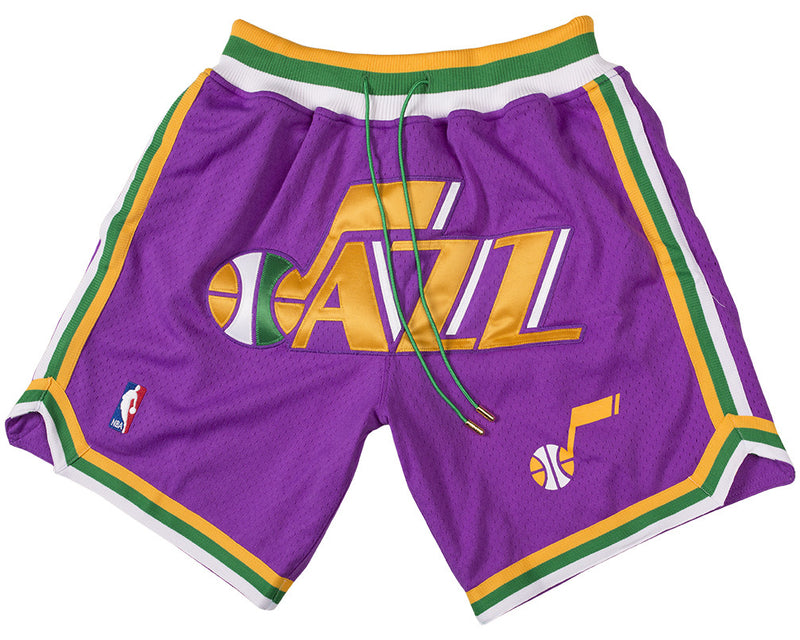 Utah Jazz Shorts (Purple) JUST ☆ DON By Mitchell   Ness100% Poly textured  mesh short with knit rib waist band.