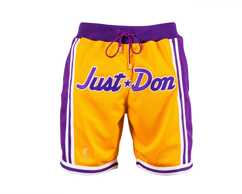 f0a9cb2b2ed Just ☆ Don Shorts (Lakers) JUST ☆ DON By Mitchell   Ness100% Poly textured  mesh short with knit rib waist band.