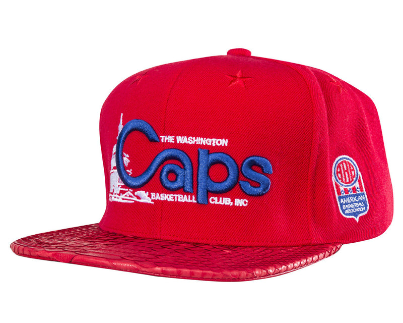 9b270ffbdcaed ... navy emblem snapback adjustable hat 899ed 96a43  discount code for washington  caps script red red matte red just don by mitchell and ness