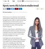 Boston Globe - Sporty Meets Chic in Latest Retailer Trend