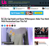 US Weekly - Be Like Gigi Hadid and Reese Witherspoon: Make Your Mark With Personalized Gear This Fall