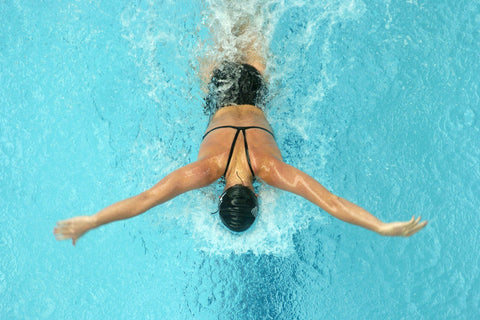swimming for exercise like in the Olympics