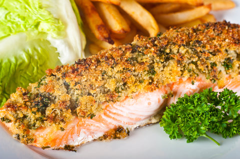 herb crusted paleo salmon
