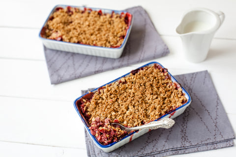 Strawberry Rhubarb Paleo Crisp