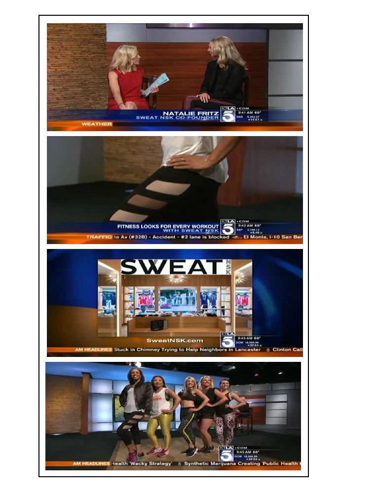 Sweat NSK on KTLA Morning News
