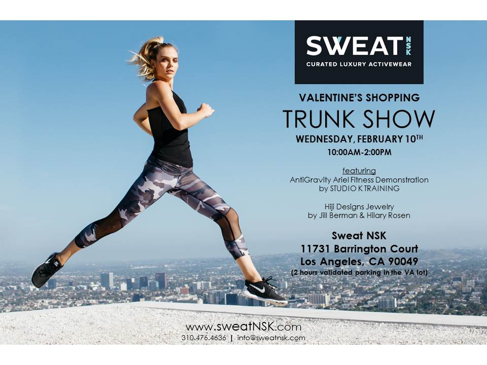 Valentine's Day Jewelry and Fitness Trunk Show