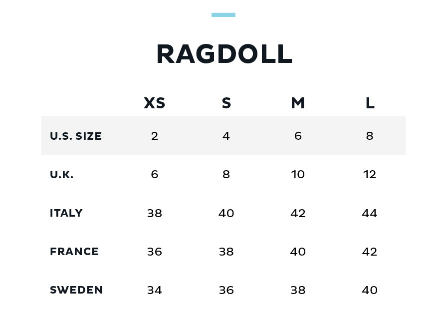 Size Chart for Ragdoll