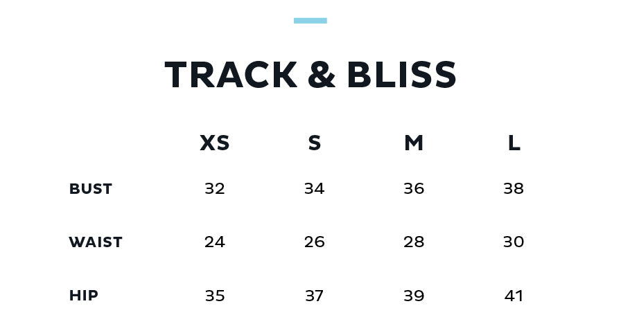 Size Chart for TRACK & BLISS