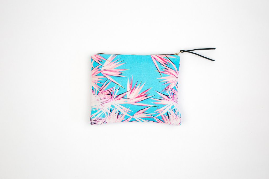 Legend of Lido Jagged Palm Mini Pouch