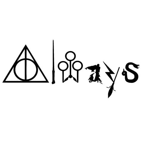 Always with Harry Potter Symbols Decal