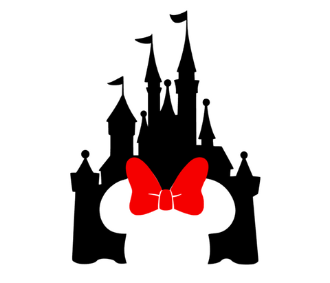Disney Castle With Minnie Silhouette