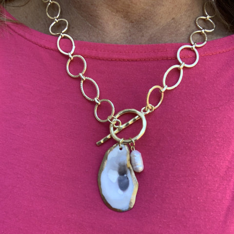 Avery Oyster Necklace