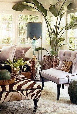 Tropical inspired room