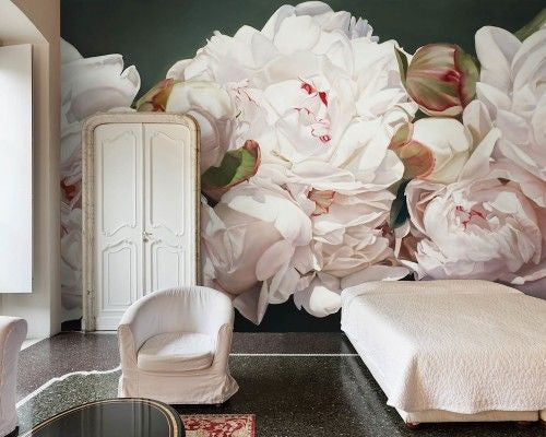 Big Floral Wallpaper - Area Environments - Thomas Darnell Peonies Wallpaper