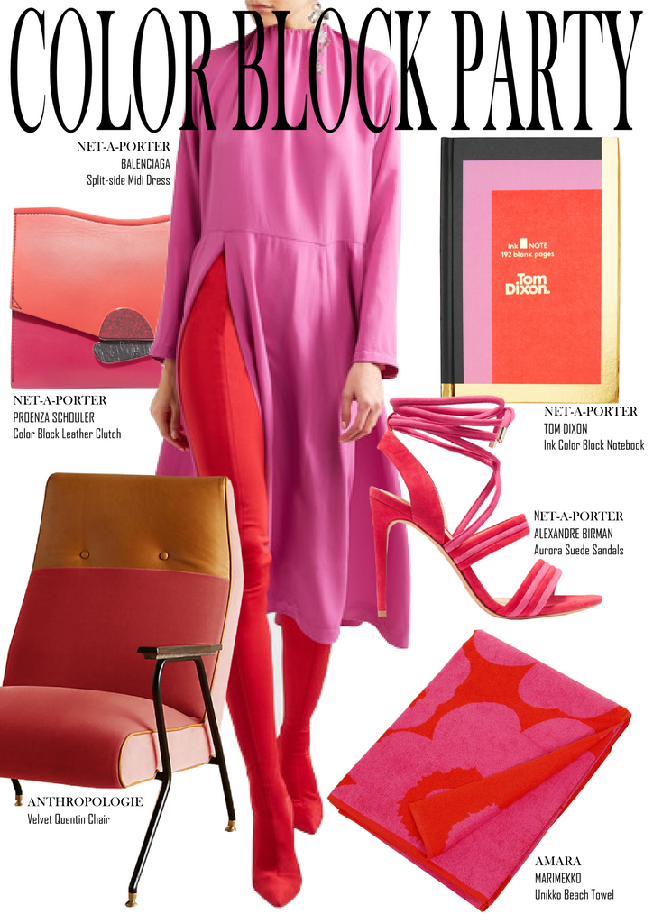 MONDAY MOOD - COLOR BLOCK PARTY - Shop The Look Inspiration Board