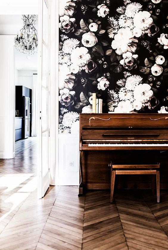 Big Floral Wallpaper - French by Design