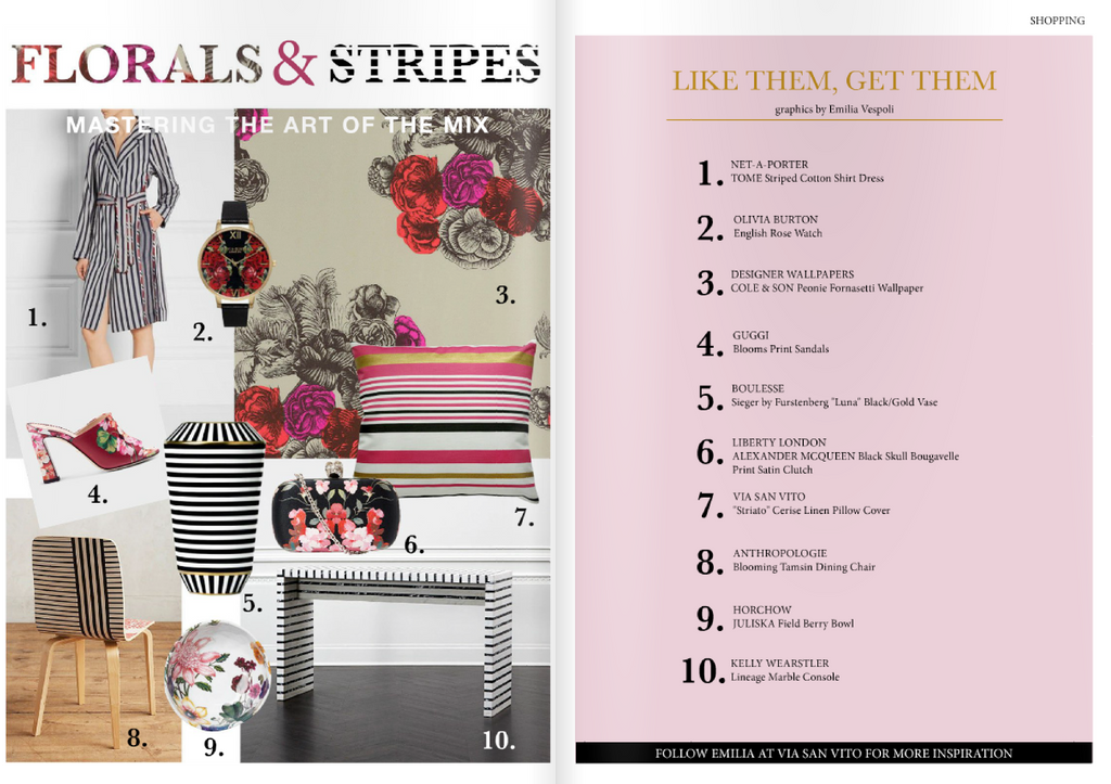 HIGH IN STYLE MAGAZINE - FLORALS & STRIPES