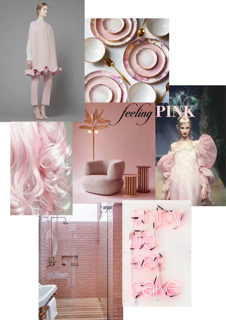 MONDAY MOOD - FEELING PINK - Inspiration board