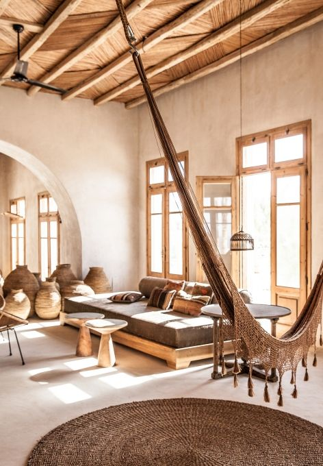 Hammocks in interiors