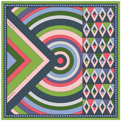 Silk Twill Scarf - Via San Vito - Geometric Design